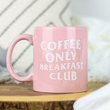This 11oz ceramic coffee mug is perfect for morning coffee, afternoon tea, or whatever hot beverage you enjoy! Comes in a glossy pink color & yields a vivid screen printed graphic that retains its quality when dish-washed & microwaved. Dishwasher & microwave safe. Made in the USA. Ships worldwide. Cute pink mug, the Breakfast Club quote.