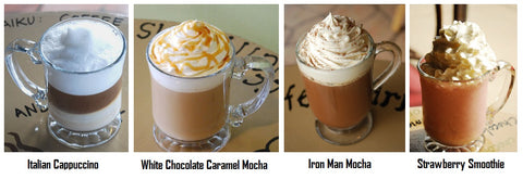 Espressos, lattes, mochas, hot cocoas, coffee at gourmet coffee house downtown Lima, Ohio