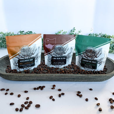 Coffee Lover Valentine Sampler, Gift Set of 3 Gourmet Coffees