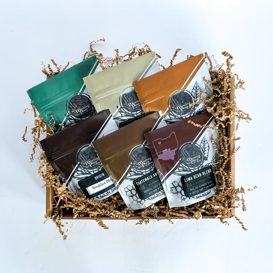 Corporate Gift Basket, Coffee Gift Box, Coffee Sampler, Gift Box for Business