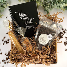 Virtual Meeting Coffee Gift Box with Notebook & Pen, Biscotti and Granola Bar | Virtual Conference | Employee Gift