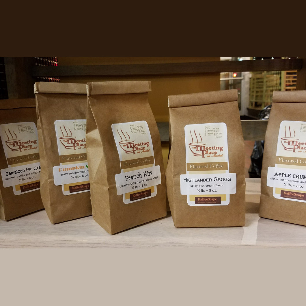 Variety of Five Gourmet Coffees, Stocking Stuffer, Neighbor Gift, Secret Sister Gift