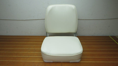 B&M Wise 3034NS Marine White Economy Folding Fold Down Boat Seat Chair