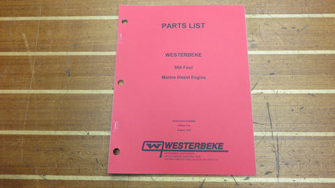 Westerbeke 044000 Genuine OEM 55A Four Marine Diesel Engine Parts List Catalog