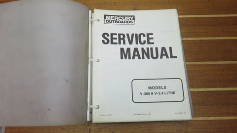Mercury 90-43508 Genuine OEM 1984 Service Manual for V-300 & V3.4 Litre Outboard - Second Wind Sales