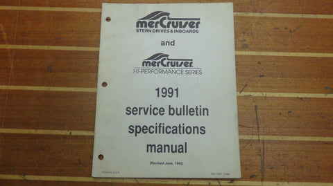 Mercury MerCruiser SIS-1043 Genuine OEM Service Bulletin Specifications Manual - Second Wind Sales