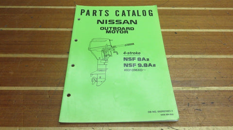 Nissan 002N21051-1 Genuine OEM NSF 8A2 9.8A2 4 Stroke Outboard Parts Catalog - Second Wind Sales