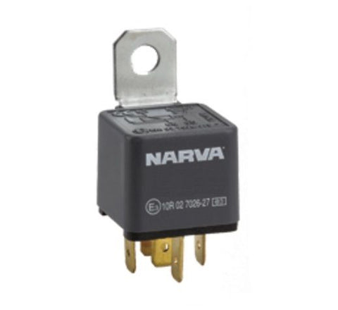 Narva 68040 Normal Open NO 24V 30 Amp 5 Pin with Diode Standard Relay