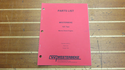 Westerbeke 039721 Genuine OEM 12C Two Marine Diesel Engine Parts List Catalog Ma