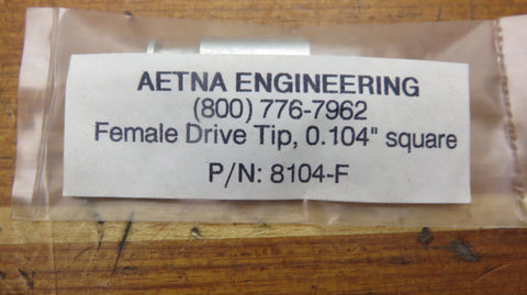 Aetna Engineering 8104-F Tachometer Sender Sending Unit Square Female Drive Tip