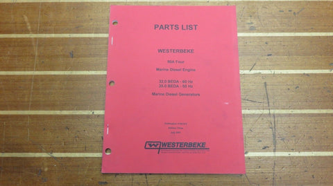 Westerbeke 041512 90A Four 32.0 60Hz 25.0 50Hz BEDA Engine Generator Parts List