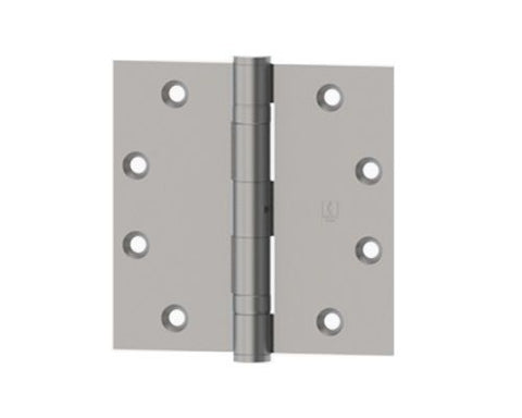 "Hager 1279 Steel with Steel Pin 4"" x 4"" Chromium Plated Full Mortise Door Hinge"