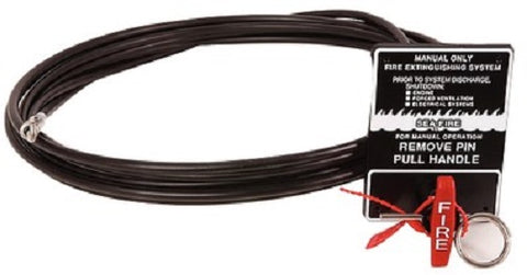 Sea-Fire 135-024 SMAC 24' Fire Suppression Extinguisher Manual Discharge Cable Assembly