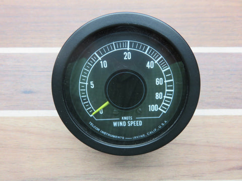 Telcor Series 8100 Boat Marine Analog Wind Speed Gauge