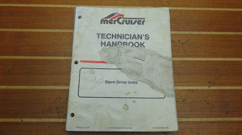 Mercury MerCruiser 90-806534940 Genuine OEM Stern Drive Technician's Handbook - Second Wind Sales