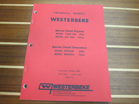 Westerbeke 13315 2nd Edition Marine Diesel Engines and Generators Technical Manual - Second Wind Sales