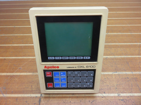 Raymarine Raytheon Apelco DXL 6100 LORAN-C GPS Display FOR PARTS OR REPAIR - Second Wind Sales