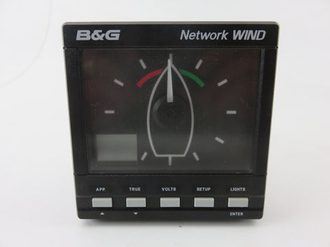 B&G Brookes and Gatehouse 611-00-007 Boat Sailboat Network Wind Display Unit 360° LCD Screen