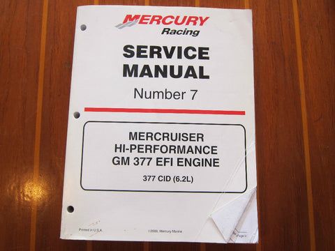 Mercury Racing 90-840500 Number 7 MerCruiser Hi-Performance GM 377 EFI Manual - Second Wind Sales