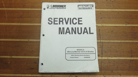 Mercury Mariner 90-827857-R1 Genuine OEM 8 9.9 4-Stroke Outboard Service Manual - Second Wind Sales