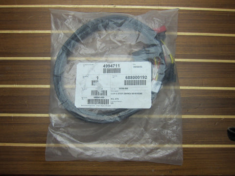 Mercury SmartCraft VesselView 84-8M2013910 Cummins 4994711 Stop Switch Wire Harness
