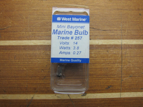 ABI Marine 840257 Marine Grade 12V 3.58W Mini Bayonet Light Bulb 257 Lot of 2
