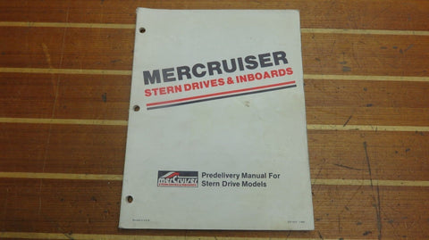 Mercury MerCruiser SIS-1012 Genuine OEM Stern Drive Predelivery Service Manual