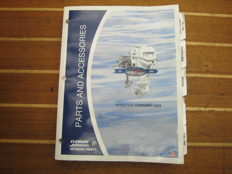 OMC Johnson Evinrude 764997 Genuine OEM Parts and Accessories 2009 Catalog / Manual