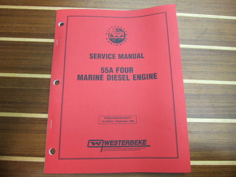 Westerbeke 43377 1st Edition 55A Four Marine Diesel Engine Service Manual - Second Wind Sales