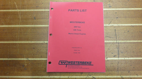 Westerbeke 037115 Genuine OEM 20B Two 30B Three Marine Diesel Engines Parts List - Second Wind Sales