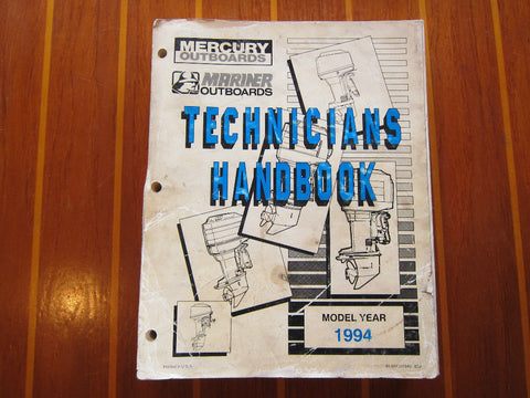 Mercury Marine Service Manual 1994 Technicians Handbook 90-816981940