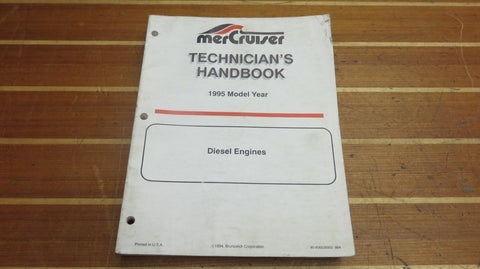 MerCruiser 90-806535950 Genuine OEM 1995 Diesel Engine Technician's Handbook Manual - Second Wind Sales