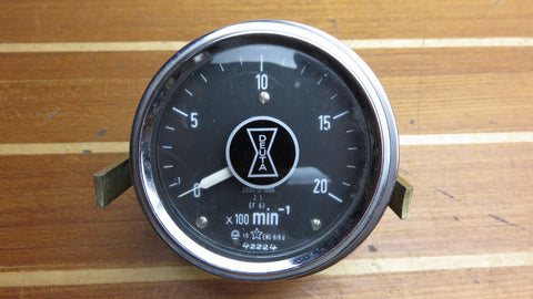 Deuta 2000 RPM Black Vintage Precision Eddy-Current Tachometer Gauge