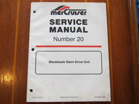 MerCruiser Marine Service Manual Number 20 Blackhawk Stern Drive Units 90-823228