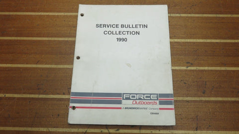 US Marine OB4684 Force Outboard 1990 Service Bulletin Collection