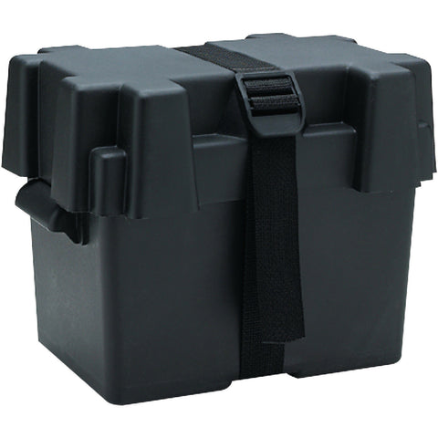 SeaChoice 22080 Standard 27 Series Boat Marine Battery Box With Lid and Strap