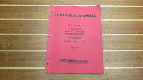 Westerbeke 34654 Genuine OEM 4 Cylinder Gasoline Generator Set Technical Manual