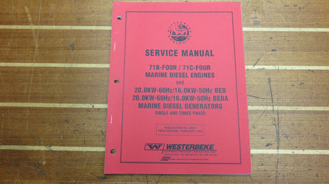 Westerbeke 43317 Genuine OEM 71B 71C Engine BED BEDA Generator Service Manual - Second Wind Sales