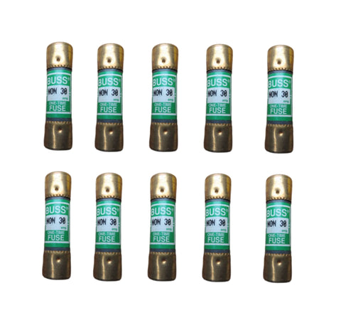 Cooper Bussmann BUSS NON-30 250V 30 Amp Class K5 1-Time General Purpose Fuse Pack of 10