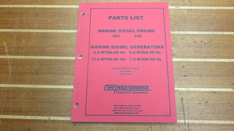 Westerbeke 048220 Genuine OEM 35C 35D Marine Diesel Engine Generator Parts List