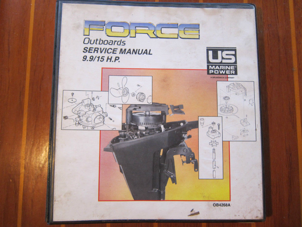 Mercury Marine Service Manual Force 9 9 & 15 HP Outboards OB4268A