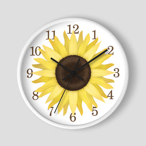 Sunflower Wall Clock at Speckle Rock