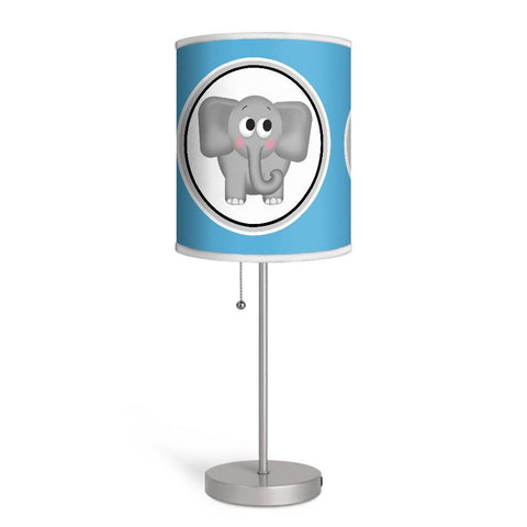 Adorable Elephant Blue Nursery or Kids Room Lamp at Speckle Rock