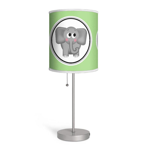 Adorable Elephant Green Nursery or Kids Room Lamp at Speckle Rock