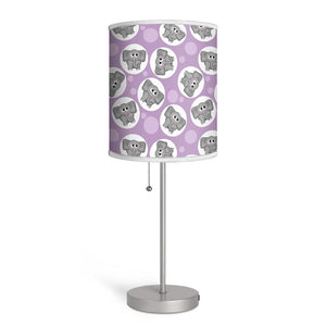Adorable Elephant Pattern Purple Nursery or Kids Room Lamp at Speckle Rock