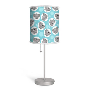 Adorable Elephant Pattern Turquoise Nursery or Kids Room Lamp at Speckle Rock