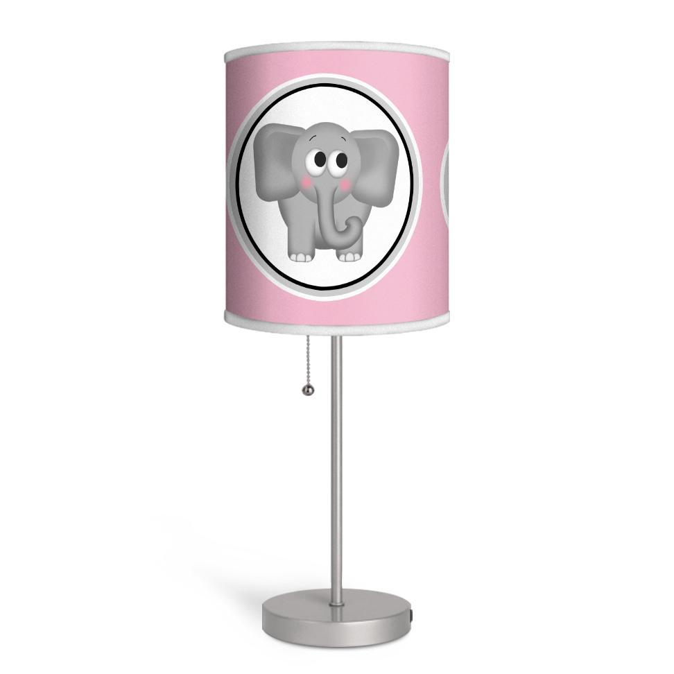 Adorable Elephant Pink Nursery or Kids Room Lamp at Speckle Rock