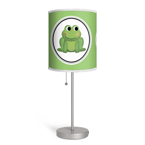 Adorable Frog Apple Green Nursery or Kids Room Lamp at Speckle Rock
