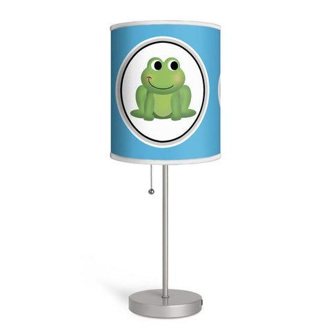 Adorable Frog Blue Nursery or Kids Room Lamp at Speckle Rock