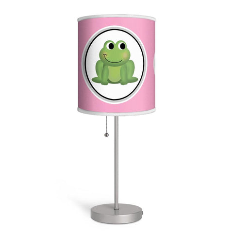 Adorable Frog Pink Nursery or Kids Room Lamp at Speckle Rock